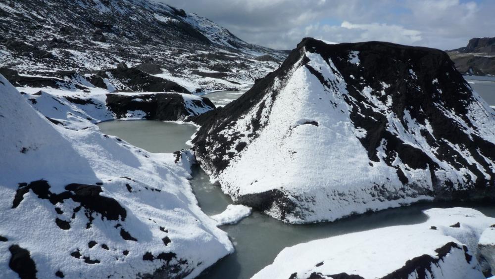 Carte Glacier Solheimajokull Islande