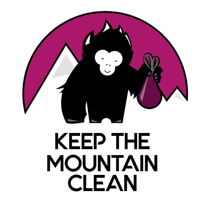 Dessin Keep The Mountains Clean sous illustrator