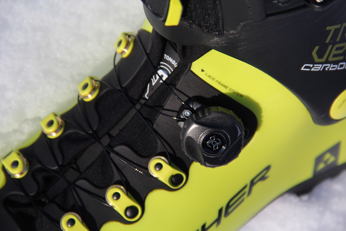 serrage BOA de la chaussures de ski de rando Fisher Travers Carbon