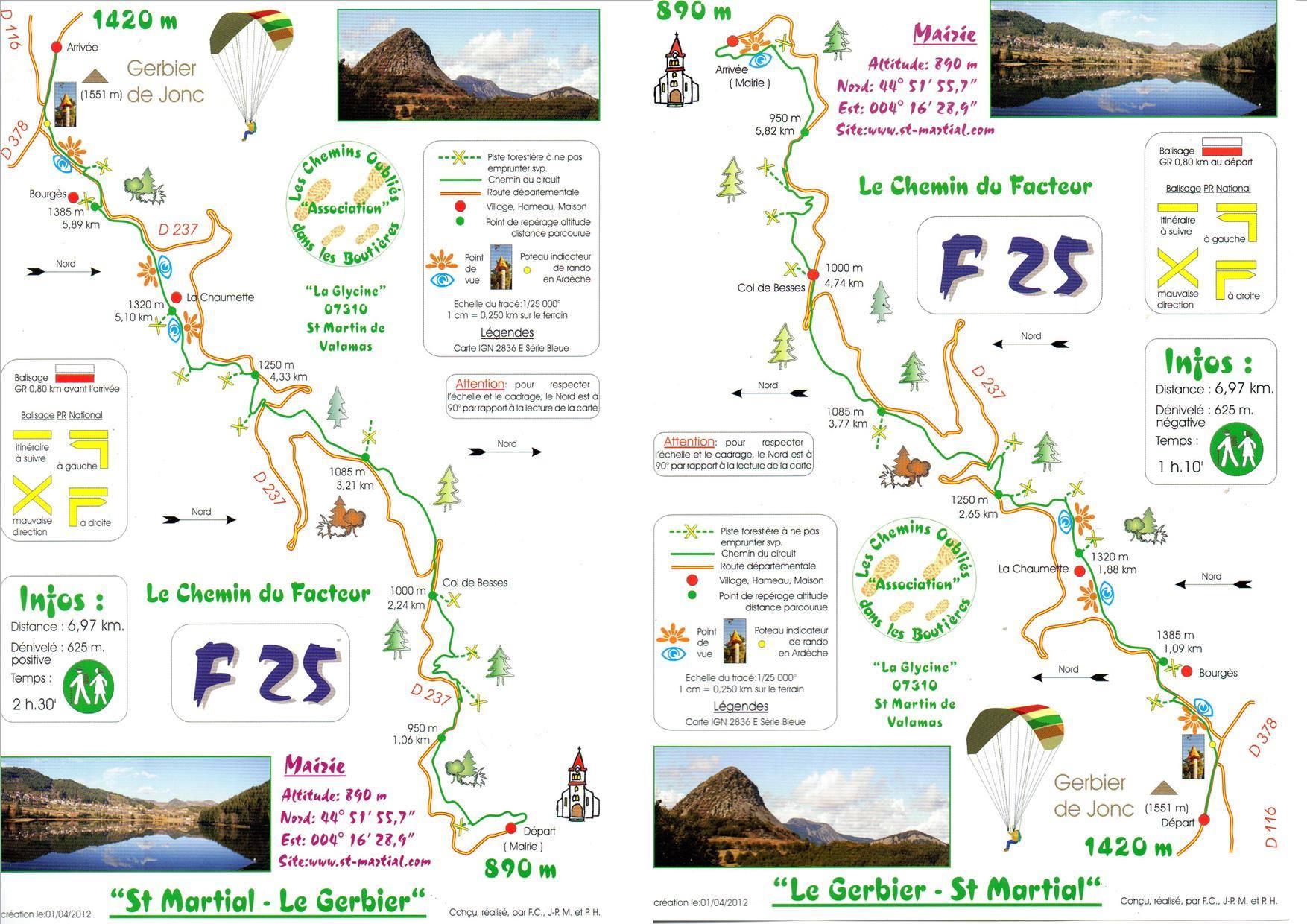 mont gerbier de jonc carte Mont Gerbier de Jonc (1551m) par le Sentier du facteur de Saint