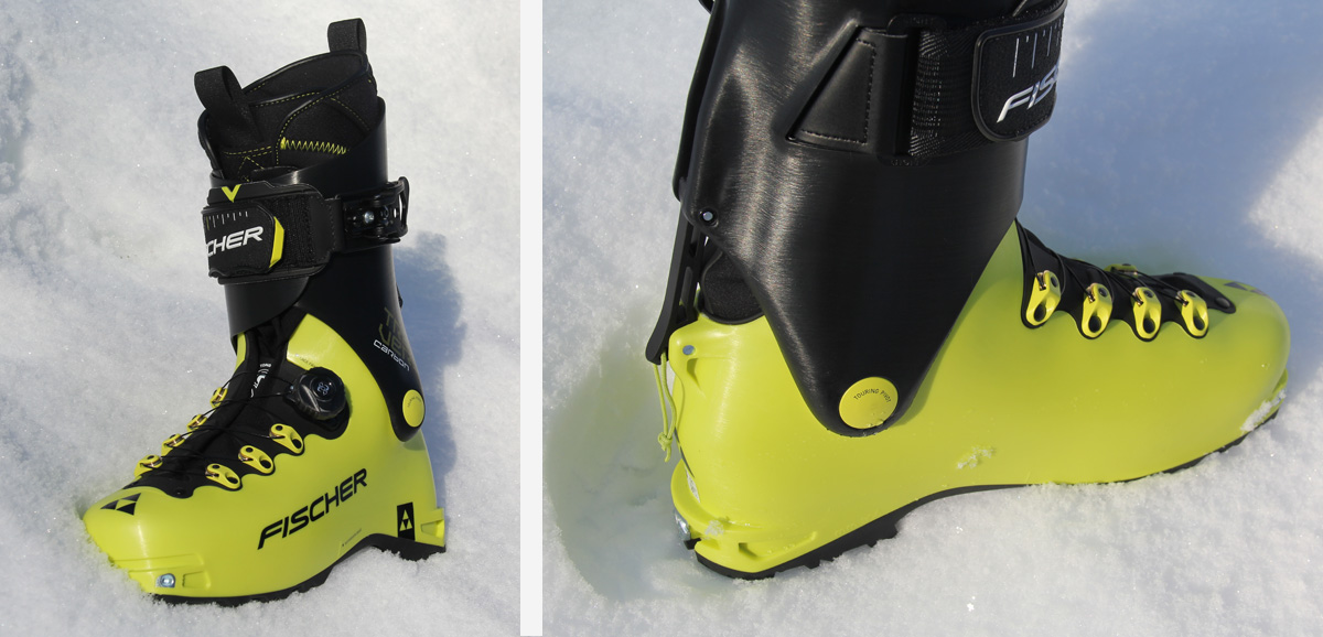 Position ski/montée de la chaussures de ski de rando Fisher Travers Carbon