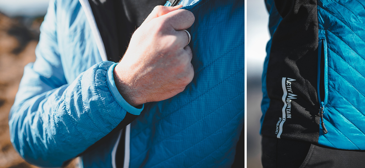 Doudoune Vertical - HYBRID Jacket ACTIV' Mountain - Test Terrain