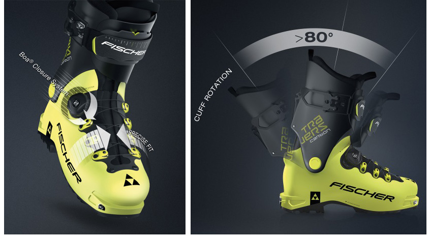 Fit et serrage de la chaussures de ski de rando Fisher Travers Carbon