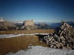 Grand Veymont, Mont Aiguille, Cairn Sommital