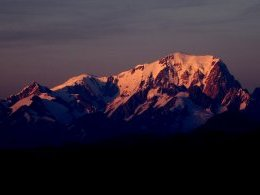 Mont Blanc au couchant.
