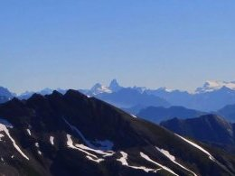 Grand Combin, Cervin, Mont Rose.