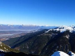 Panorama : Bauges, Mont Blanc, Grands Moulins