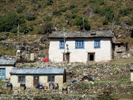 Habitat traditionnel du Khumbu.