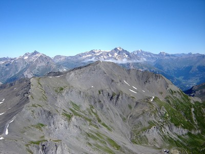 La Belle Plinier vue de la Cime du Grand Vallon.