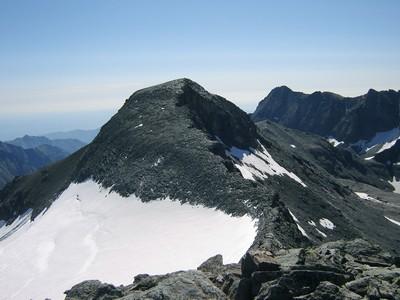 La Pointe de la Valette, vue depuis celle des Lauses Noires.