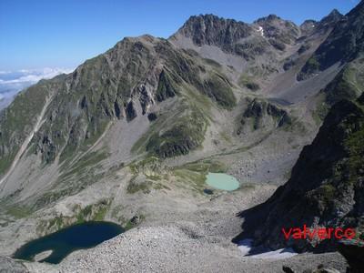 Les Lacs de la Grande Valloire depuis le Passage Odru