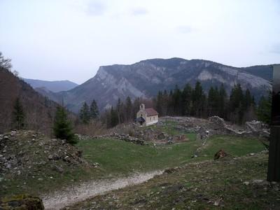 La Chapelle sur le site de Valchevrière