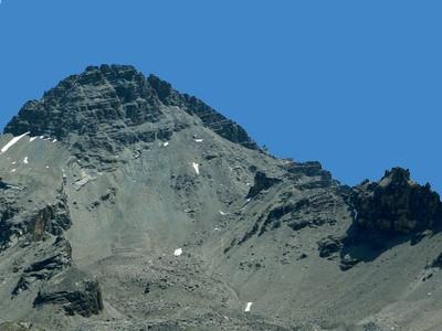 Le Pic de Rochebrune vu du col Perdu.
