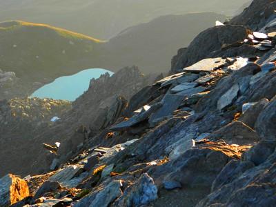 Le Lac d'Asti vu depuis le sommet du Pain de Sucre.