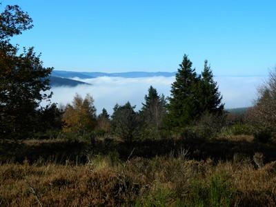 La mer de nuages, sous le Crêt de Montivert.