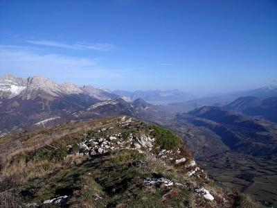Panorama vers le nord depuis la Montagne de la Pale