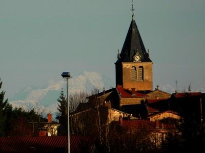 Le village d'Yzeron.