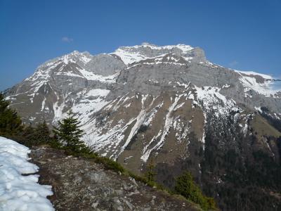 Vue de la Tournette depuis le sommet