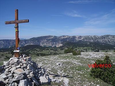 Vue de la Croix du Lautaret, la Montagne du Glandasse s'étire à l'ouest.