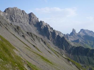 Pointe de Presset, Pierra Menta et roc de la Charbonnière.