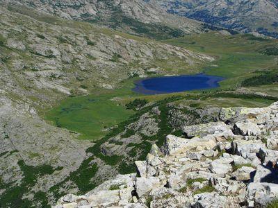 Le lac de Nino vu du Tozzu