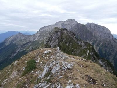 Le sommet, la pointe sud et la Tournette.