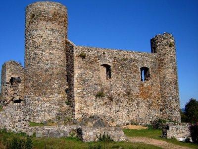 Les ruines du château d'Urfé.