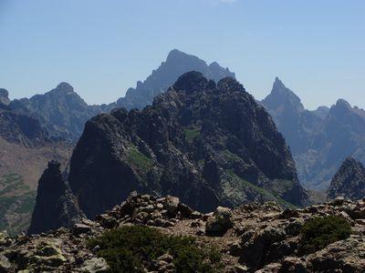 Vue du sommet, la Paglia Orba en dernier plan.