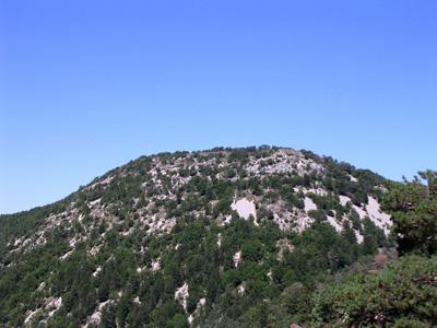 Le Pic du Comte (1156m) depuis le col de Comte