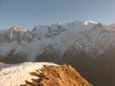 Vue sur le Mont Blanc.
