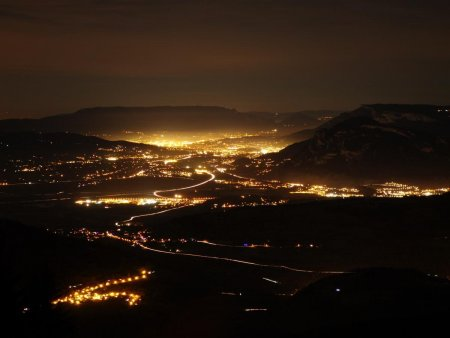 Vue sur Chambéry by night...